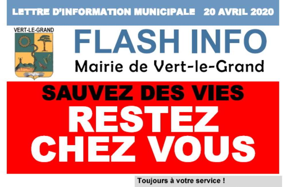 Flash Info covid-19 avril 2020